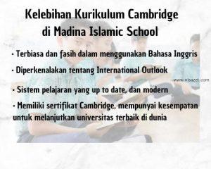 kelebihan kurikulum cambridge di madina islamic school