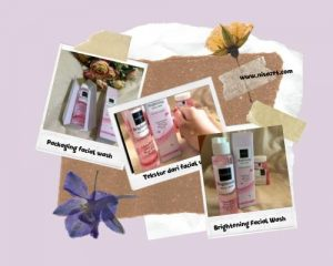 facial wash, packaging dan juga tekstur