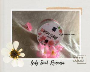 body care scrub romansa packaging