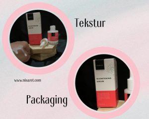 glowtening serum scarlett tekstur dan packaging
